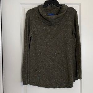 Olive green swoop-neck sweater